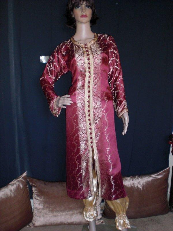 Related pictures caftan orange satin achat de marocain for Caftan avec satin de chaise