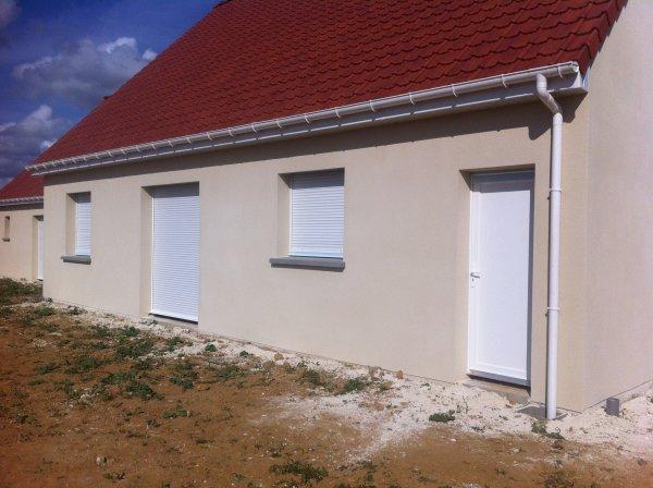 L 39 enduit exterieur la construction de notre maison par for Enduit parpaing exterieur